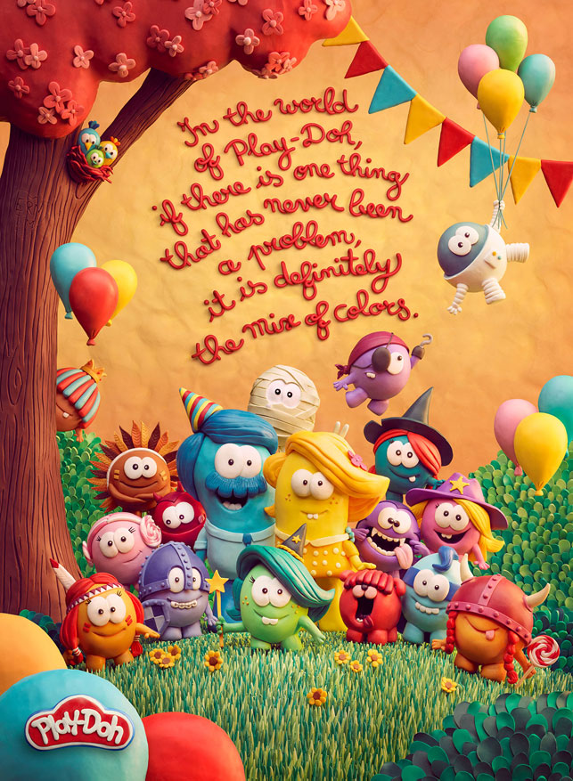 Play-Doh'tan büyüklere mesajlar
