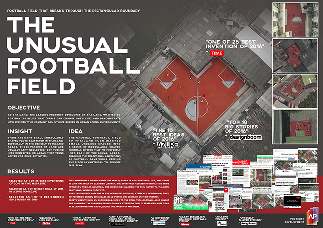 Cannes Lions The Unusual Football Field