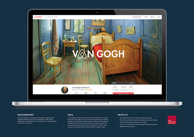 Cannes Lions 2017 Van Gogh's Bedrooms: Let Yourself In