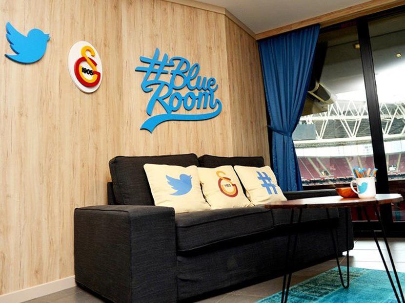 Galatasaray ve Twitter'dan Blue Room işbirliği