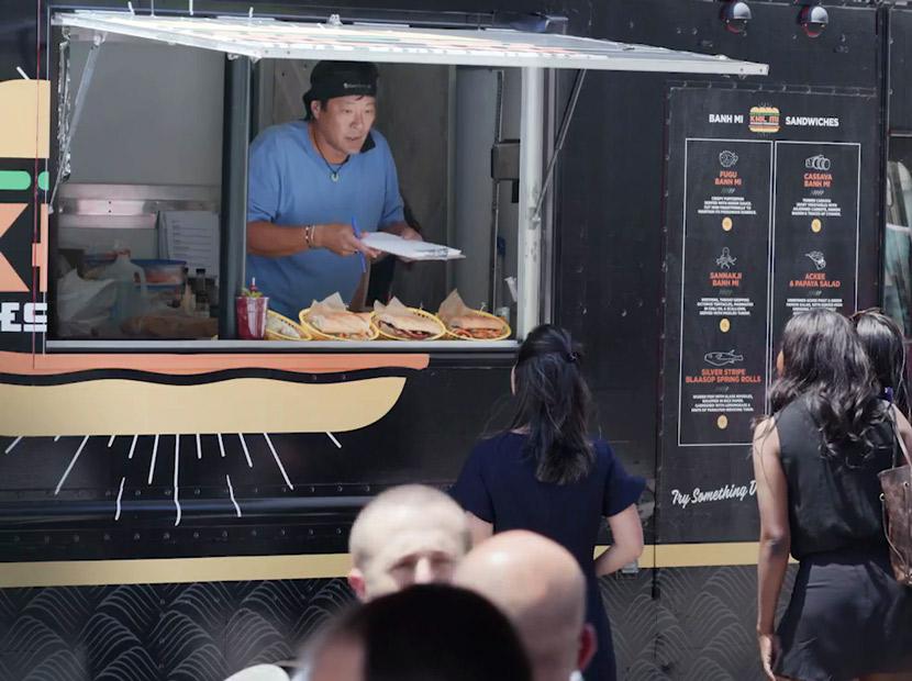 New York City'de bir zehirli yiyecek kamyonu