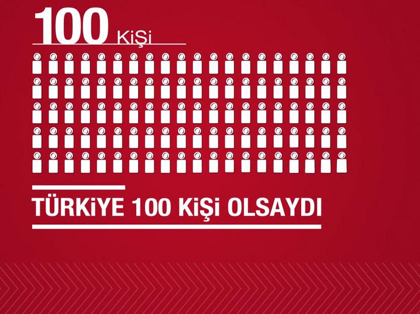 Türkiye 100 kişi olsaydı, neler mi olurdu?