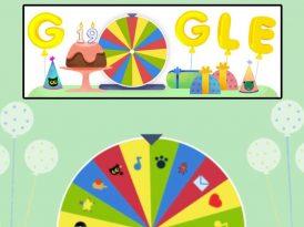 Google'dan 19. yaşına özel sürprizlerle dolu bir doodle