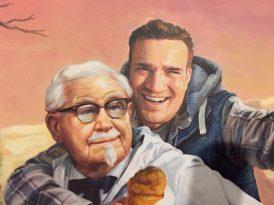 Twitter hesabının gizemini çözen adama KFC'den sanatsal tebrik