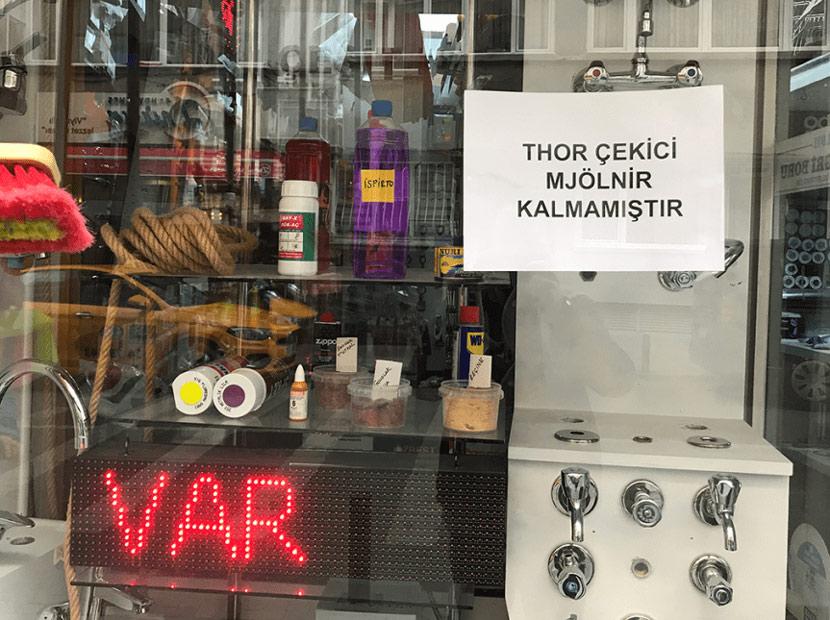 Eminönü'nde Thor rüzgârı