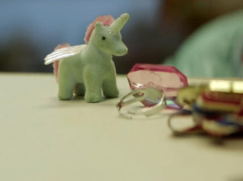 Bir para üstü olarak unicorn
