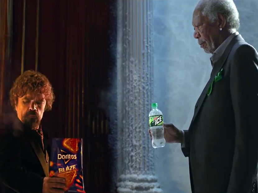 Morgan Freeman ve Peter Dinklage'dan Super Bowl atışması