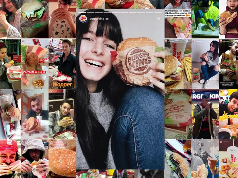 Burger King'ten yaratıcı Instagram Hikâyeler kullanımı