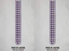 BBC'den İngiliz futbolculara dokumalı tebrik