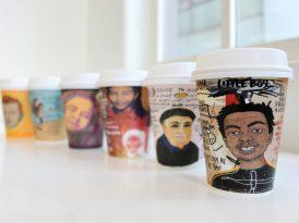 Kayıp ilanları kahve bardaklarında