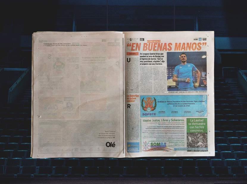 Emekliye ayrılan bir gazete sayfası