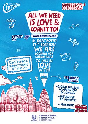 Cornetto aşk dolu pazarlama fikirlerinize talip