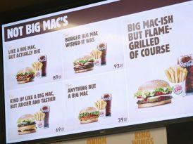 Burger King'den Big Mac olmayan ürünler