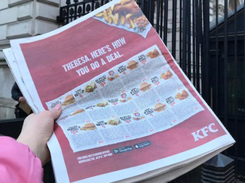 KFC'den Theresa May'e lezzetli bir tavsiye