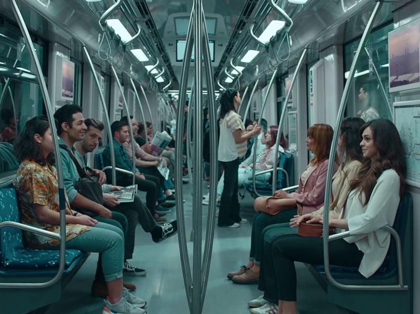 Metroda tek bir şey hariç sıradan bir gün