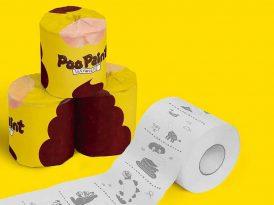 Tuvalet eğitimine yardımcı kaka boyama kağıdı
