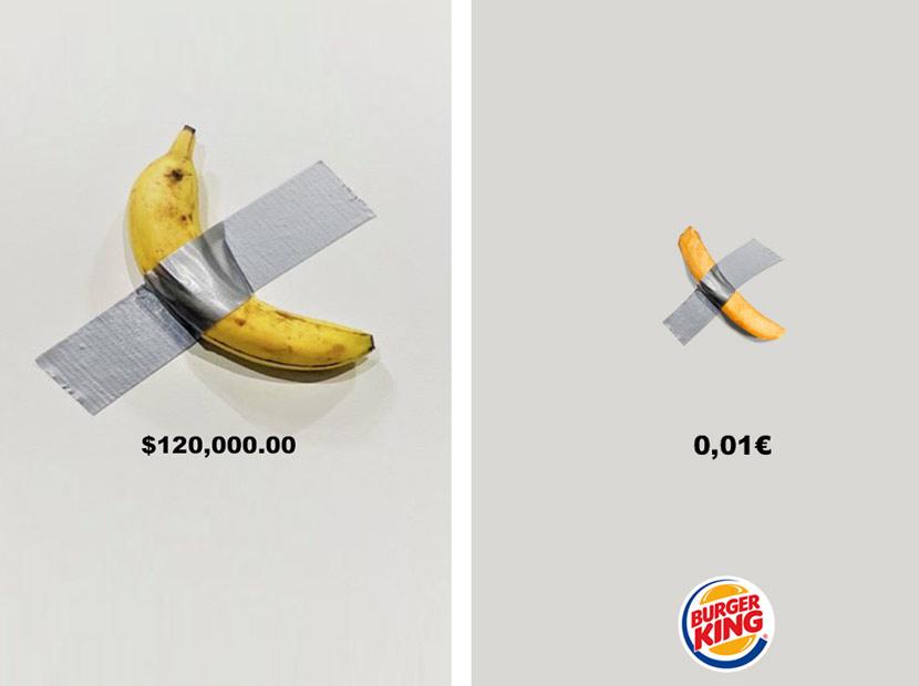 120 bin dolarlık muza Burger King yorumu