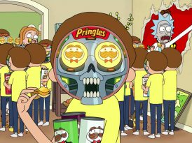 Rick and Morty Pringles evreninde