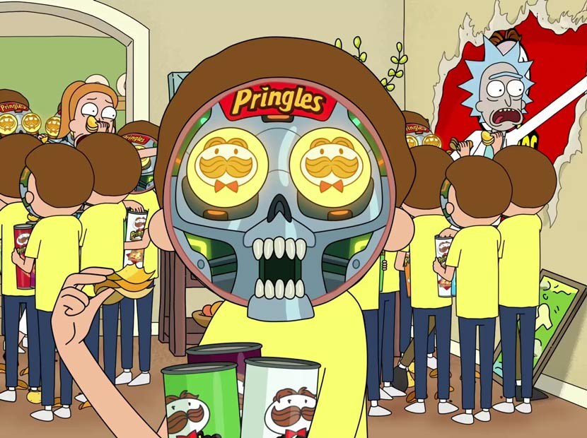 Rick and Morty Pringles evreninde