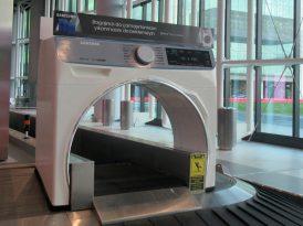 İstanbul Havalimanı'nda dev bir çamaşır makinesi