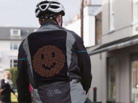Bisikletlilerin can dostu Emojili Ceket