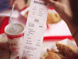 KFC'den peçete olarak kullanılabilen fişler