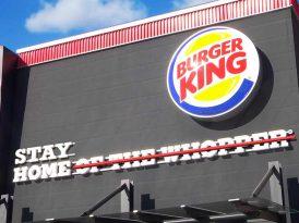 Burger King Fransa'dan salgına karşı slogan güncellemesi