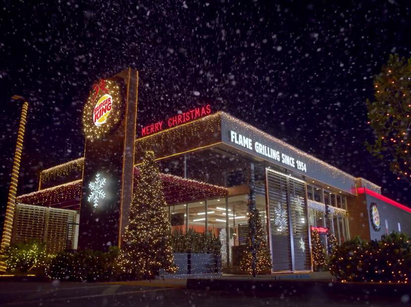 Burger King'den erken Noel kutlaması