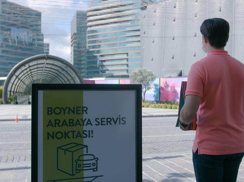 Boyner'den arabaya servis hizmeti
