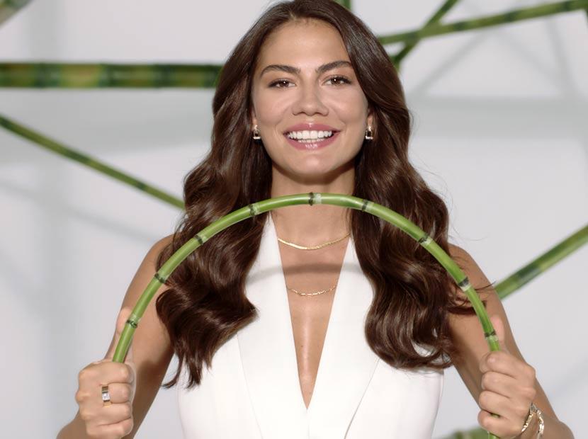 Bambu gibi uzun ve esnek saçlar için