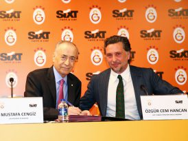 Galatasaray'ın yeni sponsoru SIXT rent a car