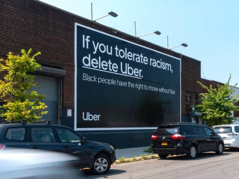 Uber'den ırkçılığa karşı açık mesaj