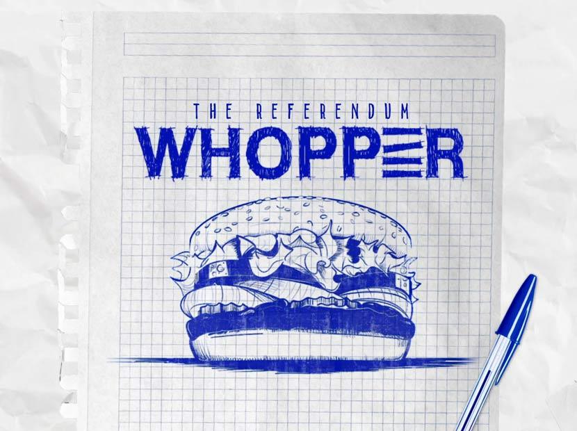 Burger King'den sandık dostu Whopper