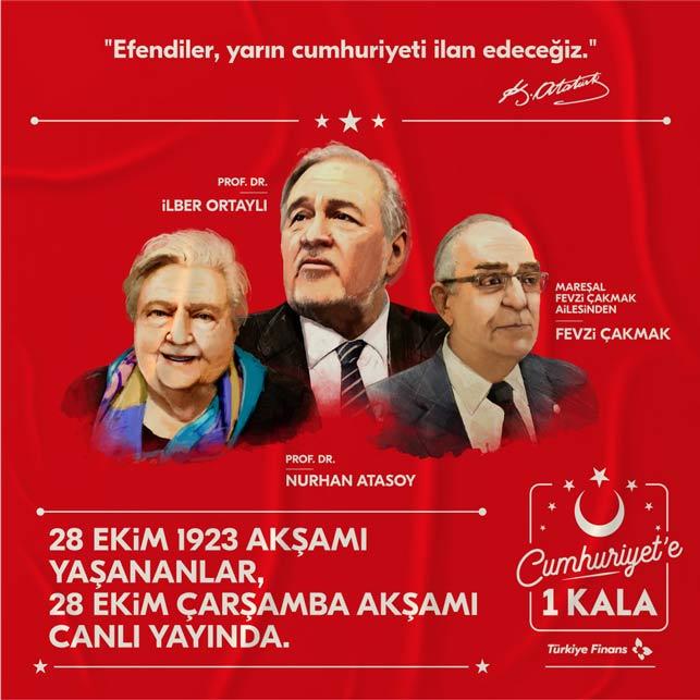 """Türkiye Finans'tan """"Cumhuriyete 1 Kala"""" özel yayını"""