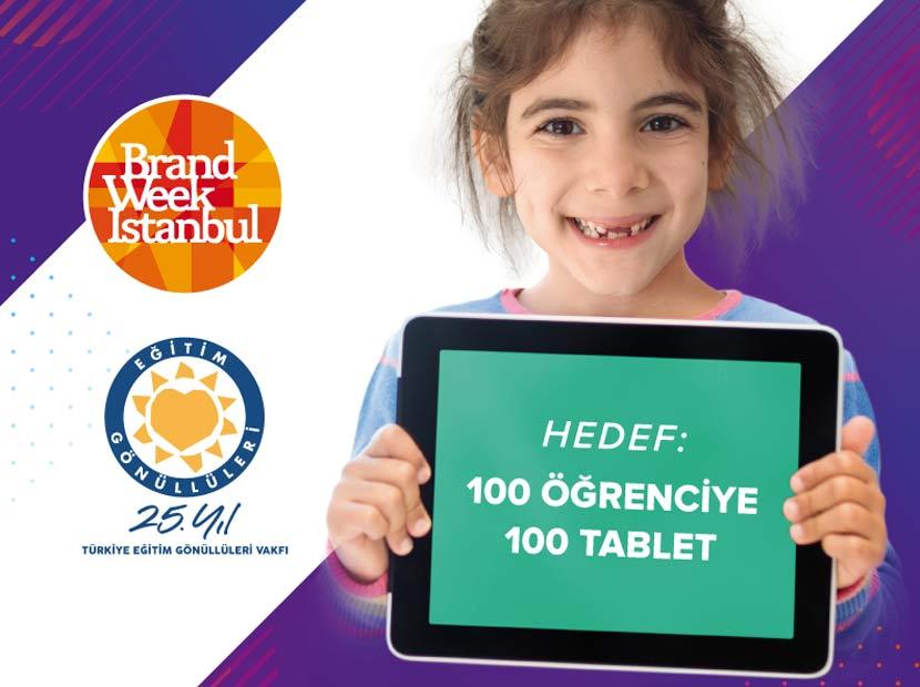 Brand Week Istanbul biletleri eğitim için tablete dönüşüyor