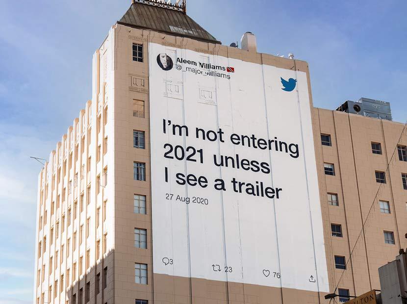 2020'ye isyan tweet'leri açıkhavada