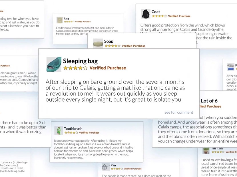 Amazon ürün yorumlarını bağışa çeviren kampanya