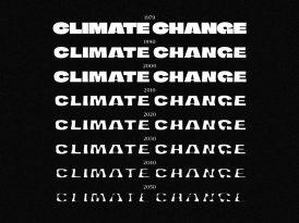 İklim kriziyle şekillenen font