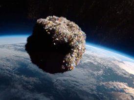 Dünya'ya yaklaşan çöptaşı