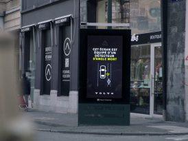 Kör noktaları aydınlatan billboard