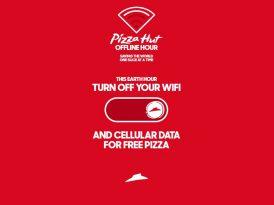 1 saat çevrimdışı olana bedava pizza