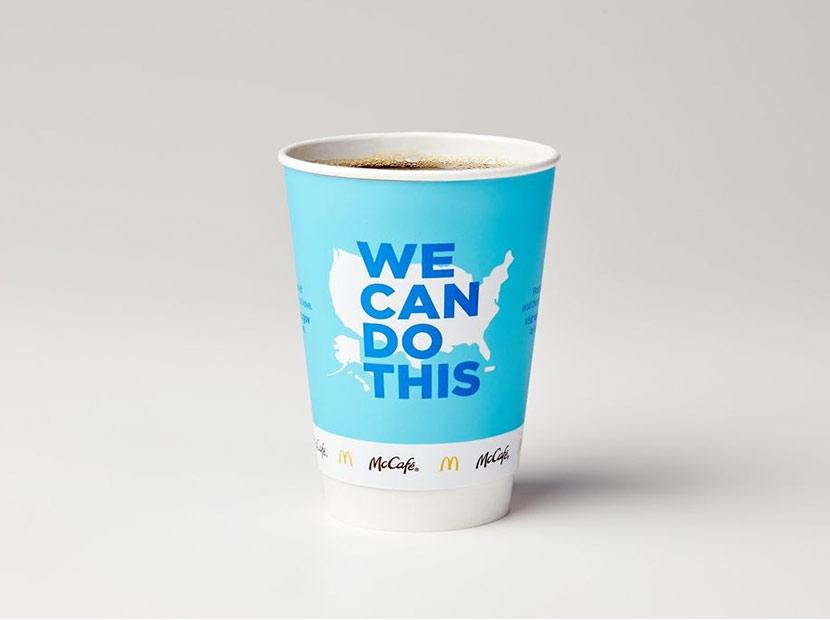 Kahve bardaklarıyla aşı farkındalığı
