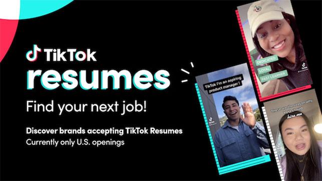 TikTok'ta videolu özgeçmiş dönemi başlıyor