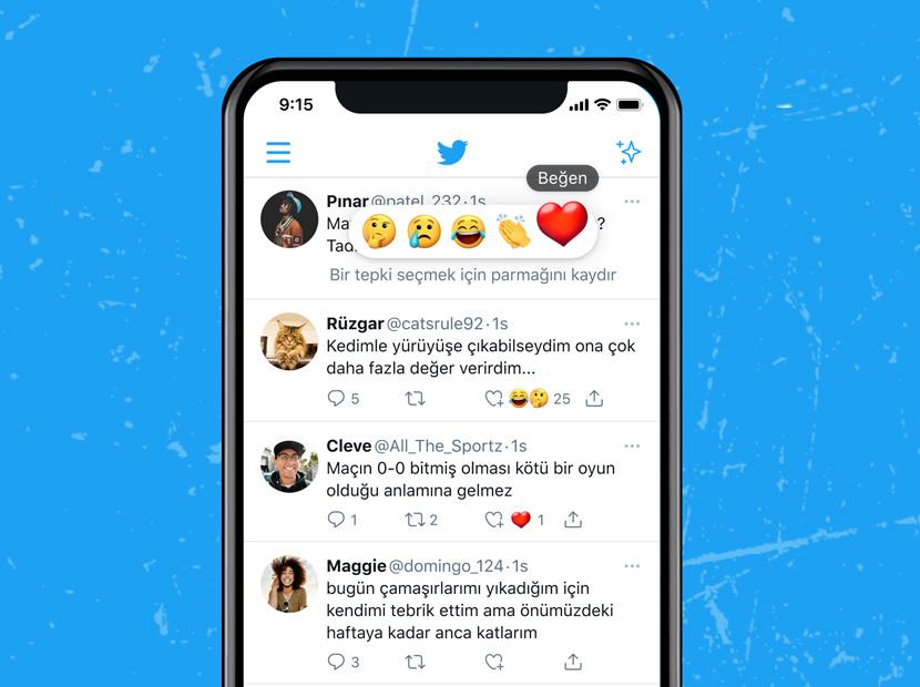 Twitter yeni özelliği Reactions'ı Türkiye'de test ediyor-00