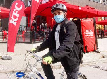 KFC'de bisikletli kurye dönemi